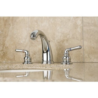 Victorian Chrome Widespread Double Handle Bathroom Faucet