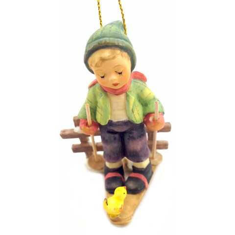 M I Hummel Winter Adventure Ornament