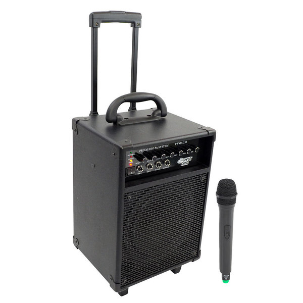 shop pyle pwma230 200w vhf wireless battery powered pa system refurbished free shipping. Black Bedroom Furniture Sets. Home Design Ideas