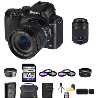 Samsung NX20 Mirrorless Camera 18-55mm and 50-200mm Lens 16GB Bundle