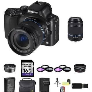Samsung NX20 Mirrorless Camera 18-55mm and 50-200mm Lens 16GB Bundle|https://ak1.ostkcdn.com/images/products/8545727/P15824662.jpg?impolicy=medium
