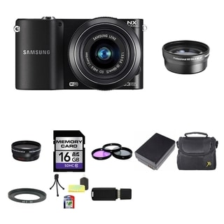 Samsung NX1000 Mirrorless Digital Camera 20-50mm Lens 16GB Bundle