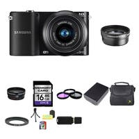 Samsung NX1000 Mirrorless Digital Camera 20-50mm Lens 16GB Bundle