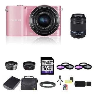 Samsung NX1000 Mirrorless Camera 20-50mm and 50-200mm Lens 16GB Bundle