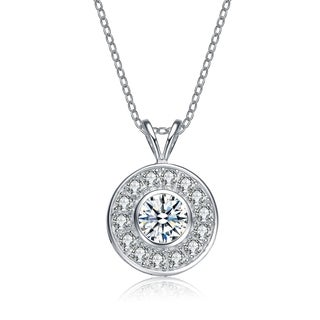 Collette Z Sterling Silver Cubic Zirconia Round Necklace (2 options available)