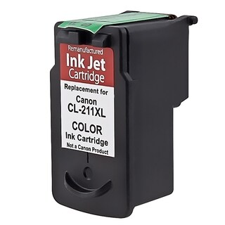 Insten Color Remanufactured Ink Cartridge Replacement for Canon CL-211XL/ 211XL