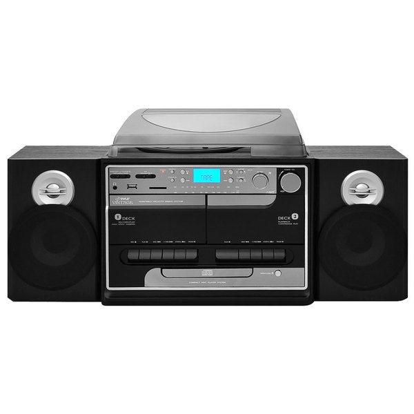 PylePro PTTCSM60 Turntable Boombox Multimedia System (Refurbished)