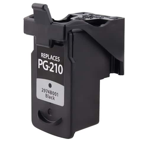 Refilled Insten Black Remanufactured Ink Cartridge Replacement for Canon PG-210XL/ 210XL
