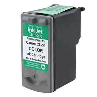 Insten Color Remanufactured Ink Cartridge Replacement for Canon CL-51/ 51