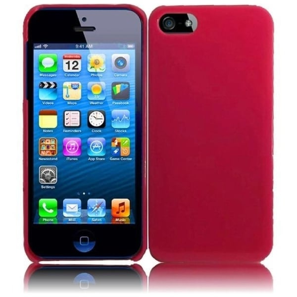 INSTEN Hot Pink Hard Plastic PC Glossy Snap-on Phone Case Cover for Apple iPhone 5/ 5S
