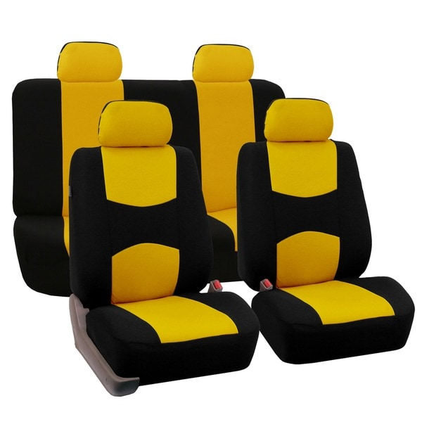 FH Group Yellow Car Seat Covers Full Set