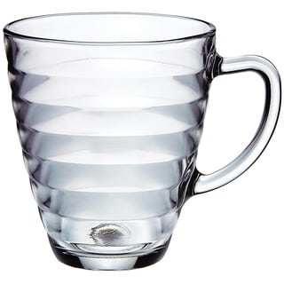Viva 10.5-ounce Glass Coffee Mugs (Set of 4)