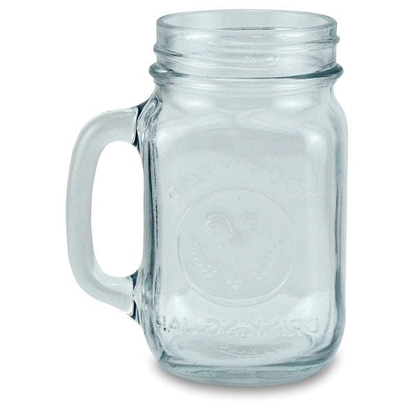 Drinking Jar 16-ounce Glass Mugs (Set of 4)