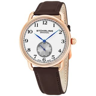 Stuhrling Original Men's Decor Swiss Quartz Strap Strap Watch|https://ak1.ostkcdn.com/images/products/8546230/P15825118.jpg?impolicy=medium