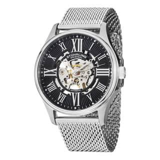 Stuhrling Original Men's Atrium Elite Automatic Skeleton Stainless Steel Mesh Band Watch|https://ak1.ostkcdn.com/images/products/8546251/Stuhrling-Original-Mens-Atrium-Elite-Automatic-Bracelet-Bracelet-Watch-P15825133.jpg?impolicy=medium