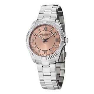Stuhrling Original Women's Lady Nautic Silver/Pink Swiss Quartz Bracelet Watch