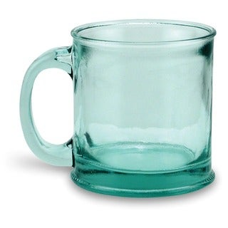 Recycled Handmade Clear Green Glass Mugs Set Of 4 Free