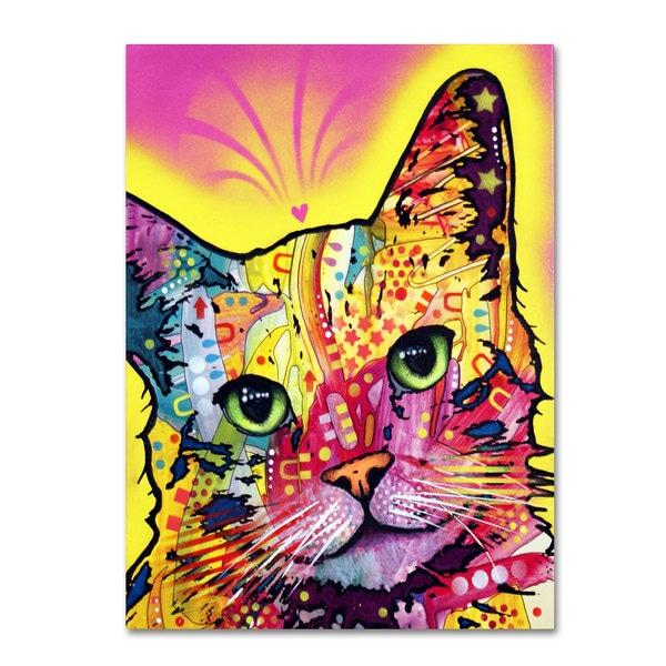 Dean Russo 'Tilt Cat' Canvas art