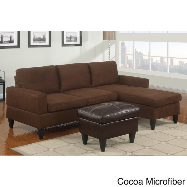 Reversible all in one sectional sofa free shipping today for Small sectional sofa overstock