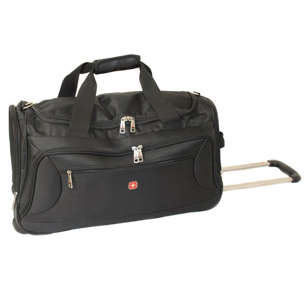 shop wenger zurich 22 inch wheeled lightweight carry on upright duffel bag free shipping today