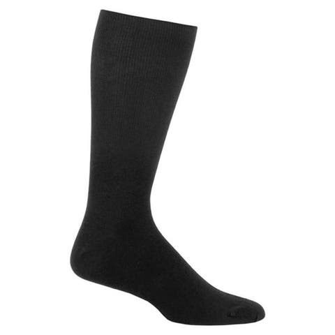 Mens Black Long Sole Diabetic Socks (Pack of 3)