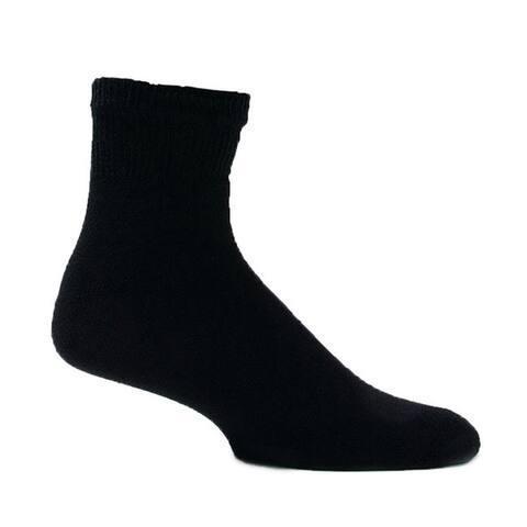 Mens Short Black Diabetic Socks (Pack of 3)
