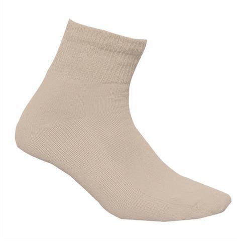 Physicians Choice Mens Brown Diabetic Quarter Socks 3-pack Size 13-15