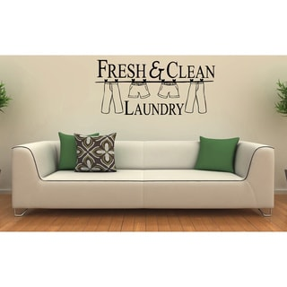 'Fresh & Clean Laundry' Vinyl Wall Decal