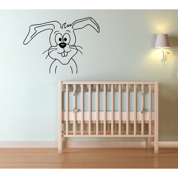 Cartoon Rabbit Vinyl Wall Decal
