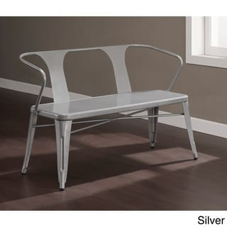 Tabouret Metal Dining Bench with Back