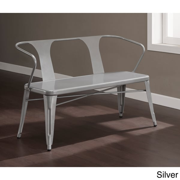 Tabouret Metal Bench with Back
