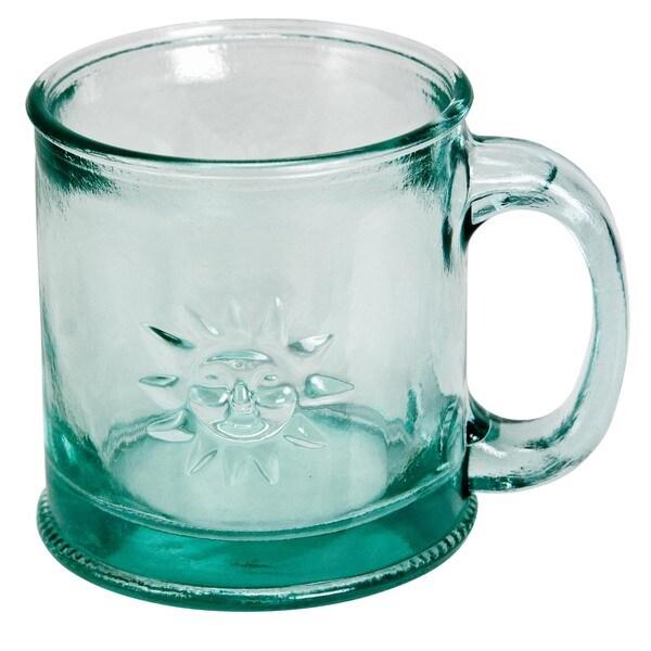 Recycled 10-ounce Handmade Mugs with Sun (Set of 4)