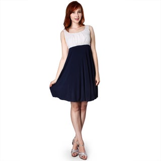 Evanese Women's Two-tone Rouched Bubble Skirt Dress (More options available)