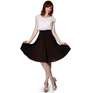 Evanese Women's Two-tone Pleated Full-Circle Dress (More options available)