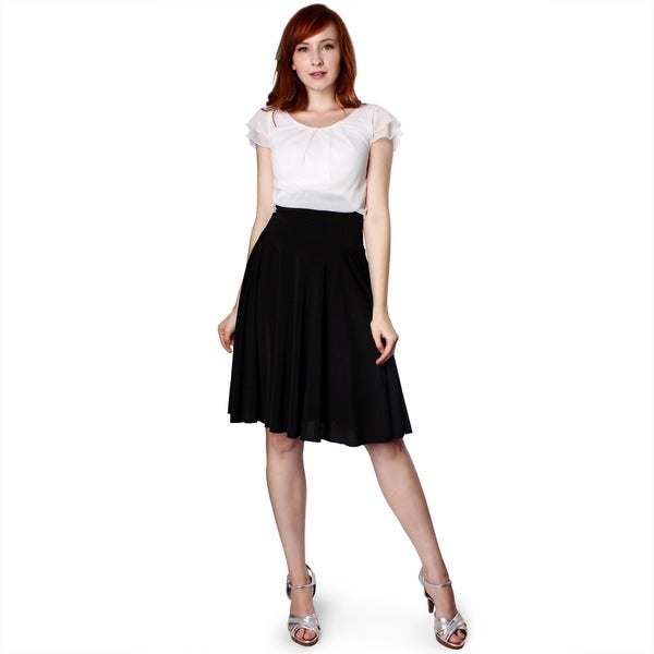 Evanese Women's Two-tone Pleated Full-Circle Dress. Opens flyout.