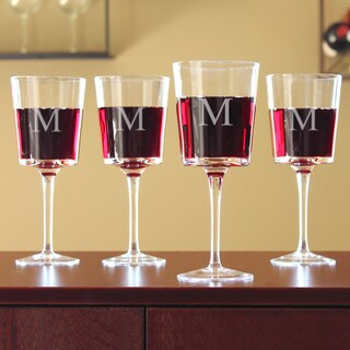 Personalized Contemporary Wine Glasses (Set of 4)