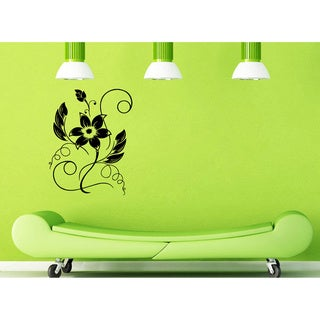 Floral Ornament with Curves Vinyl Wall Decal