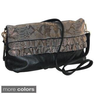 Buxton Alexandria Leather Clutch