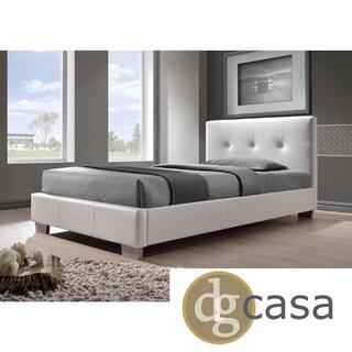 DG Casa White Twin Size Bed