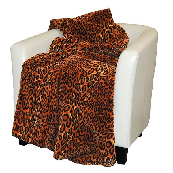Denali Black and Brown Jaguar Throw Blanket