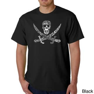 Los Angeles Pop Art Men's Pirate Pictures T-shirt (Option: L)|https://ak1.ostkcdn.com/images/products/8546573/Los-Angeles-Pop-Art-Mens-Pirate-Pictures-T-shirt-P15825426.jpg?impolicy=medium