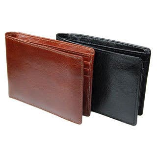 Castello Italian Leather Bi-fold Wallet|https://ak1.ostkcdn.com/images/products/8546600/P15825441.jpg?impolicy=medium