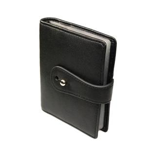 Castello Black Italian Nappa Leather Cardholder