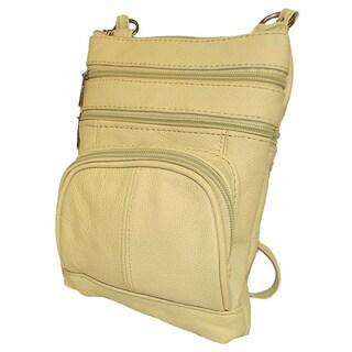 Hollywood Tag Cowhide Leather Messenger Bag