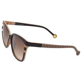Carolina Herrera Women's 'SHE543 06UP' Brown/Beige Fashion Sunglasses