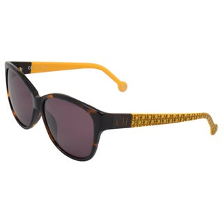 Carolina Herrera Women's 'SHE511 0743' Tortoise Mustard Signature Sunglasses