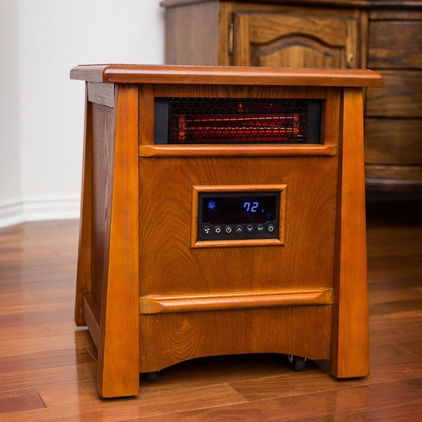 Lifesmart Ultimate All Wood 8 Element 1800-Square-Foot Infrared Heater with Deluxe Air Ionizer Syste