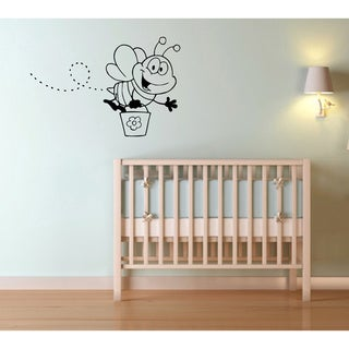 Cartoon Bee Vinyl Wall Decal