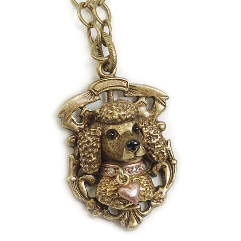 Sweet Romance Pewter Best Friend Pendant Necklace