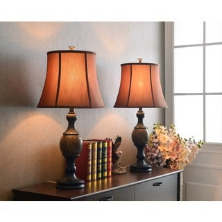 Nantes 1-light Oil Rubbed Bronze Table Lamp (Set of 2)